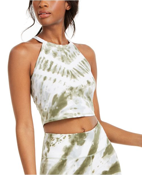 Calvin Klein Tie-Dyed Logo Cropped Top
