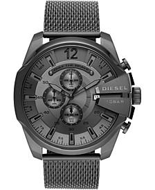 Men's Chronograph Mega Chief Gunmetal Stainless Steel Mesh Bracelet Watch 51mm