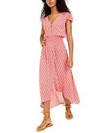 Juniors' Printed High-Low A-Line Dress