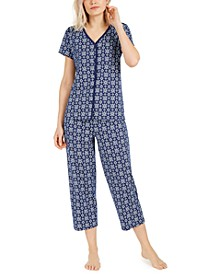 Cotton Cropped Pants Pajama Set, Created for Macy's