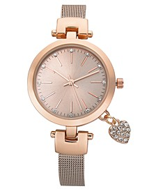 Women's Rose Gold-Tone Bracelet Watch 35mm, Created for Macy's
