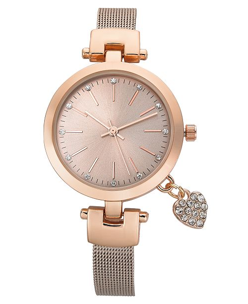 Charter Club Women's Rose Gold-Tone Bracelet Watch 35mm, Created for Macy's