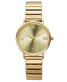 Women's Gold-Tone Expansion Bracelet Watch 34mm, Created for Macy's