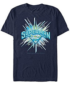 DC Men's Superman Chrystal Logo Short Sleeve T-Shirt
