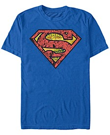 DC Men's Superman Comic Filled Logo Short Sleeve T-Shirt