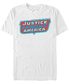 DC Men's Justice League of America Text Logo Short Sleeve T-Shirt