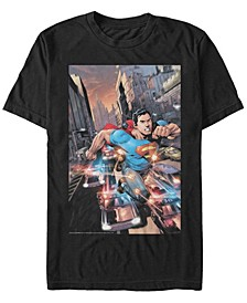 DC Men's Superman Bullets Action Poster Short Sleeve T-Shirt