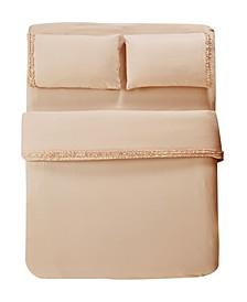 Bella Shabby Chic Easy Care Ruffled Microfiber Bed Sheet Set, Full