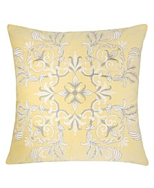 Floral Elegant Square Decorative Throw Pillow