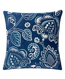 Eva Embroidery Square Decorative Throw Pillow