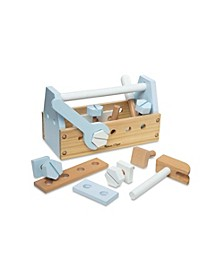 Melissa Doug Jumbo Wooden Tool Kit Toy Nursery Playroom Décor – Natural White, Wood, Blue-Gray