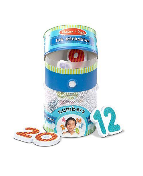 Melissa and Doug Melissa Doug Tub Stickables - Numbers Soft Shapes Bath Toy, 20 Foam Pieces