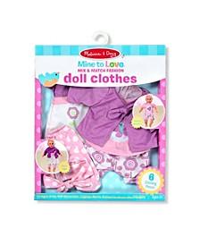 "Melissa Doug Mine to Love Mix Match Fashion Doll Clothes for 12""-18"" Dolls 6 pcs"