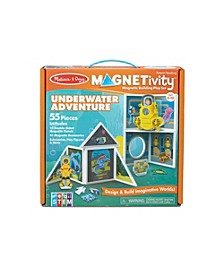Melissa Doug 55-Piece MAGNETIVITY Magnetic Building Play Set – Underwater Adventure with Submarine 10 Panels, 41 Accessory Magnets