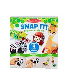 Melissa Doug Snap It Safari Animals Beginner Craft Kit – Alligator, Zebra, Monkey, Giraffe