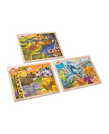 Melissa Doug Jigsaw Puzzle Bundle Dinosaur, Safari and Ocean