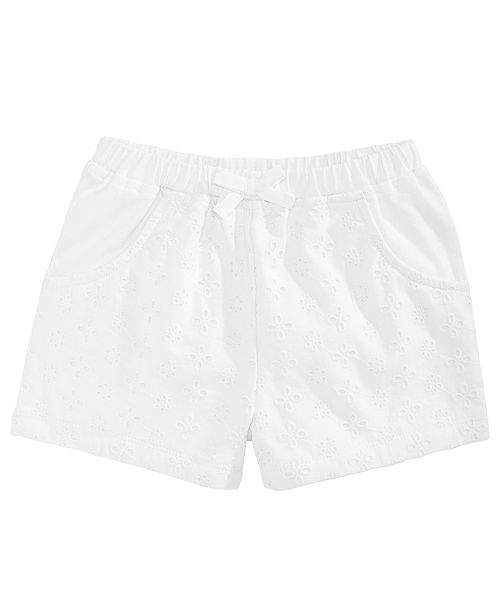 First Impressions Toddler Girls Eyelet Shorts, Created for Macy's