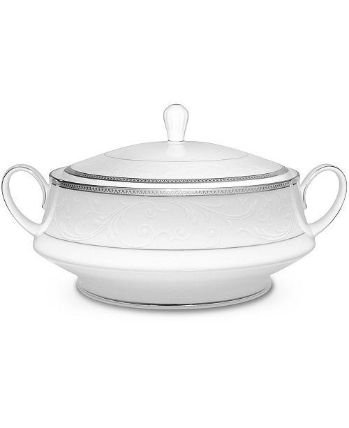 Noritake Regina Platinum Covered Vegetable Bowl, 48 Oz.