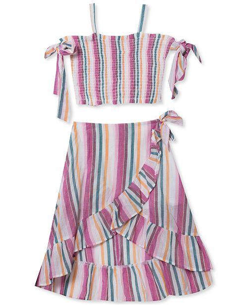Rare Editions Big Girls 2-Pc. Smocked Top & Ruffled Skirt Set