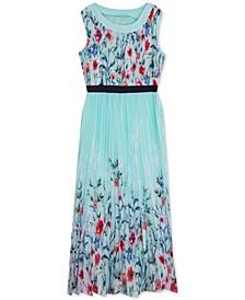 Big Girls Pleated Floral Maxi Dress