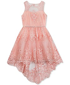 Big Girls Lace Illusion Dress
