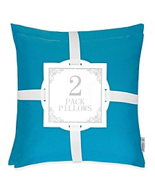 June Classic Solid Outdoor Pillow - Set of 2