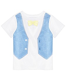 Baby Boys Faux Vest Cotton T-Shirt, Created for Macy's