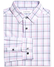 Big Boys Stretch Gradient Plaid Dress Shirt