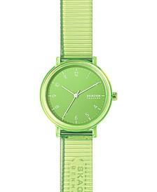 Women's Aaren Transparent Green Polyurethane Strap Watch 36mm