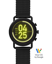 Unisex Falster 3 Black Silicone Strap Touchscreen Smart Watch 43mm