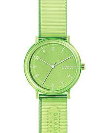 Skagen Men's Aaren Transparent Green Polyurethane Strap Watch 41mm