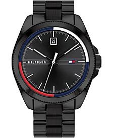 Men's Black Stainless Steel Bracelet Watch 44mm, Created for Macy's
