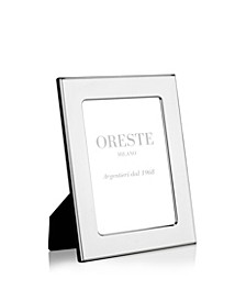 Silver Plated Picture Frame on a Black Lacquered Wooden Back