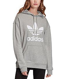 adidas Originals Women's adicolor Cotton Trefoil Hoodie