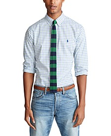Men's Classic-Fit Tattersall Poplin Shirt