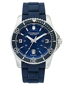 Watch, Men's Maverick GS Blue Rubber Strap 43mm 241603
