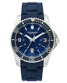 Victorinox Swiss Army Watch, Men's Maverick GS Blue Rubber Strap 43mm 241603