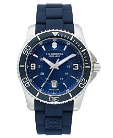 Victorinox Swiss Army Watch, Men's Maverick GS Blue Rubber Strap 43mm 241603