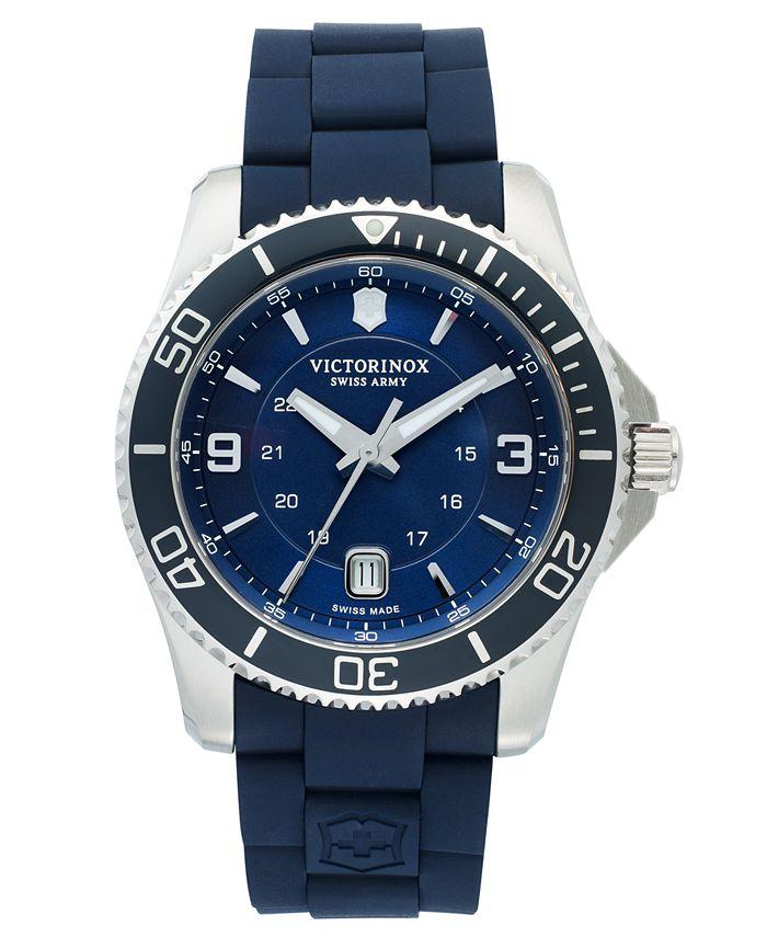 Victorinox Swiss Army - Watch, Men's Maverick GS Blue Rubber Strap 43mm 241603