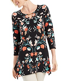 Printed Handkerchief-Hem Top, Created For Macy's