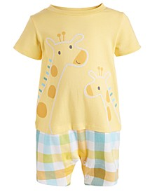 Baby Boys Giraffe Cotton Sunsuit, Created for Macy's