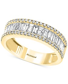 EFFY® Diamond Baguette Band (1-1/6 ct. t.w.) in 14k White or Yellow Gold