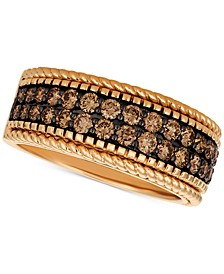 Chocolatier® Chocolate Diamond Wide Band (1-1/2 ct. t.w.) in 14k Rose Gold