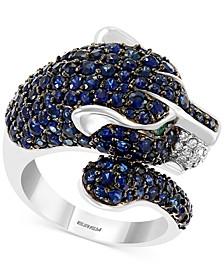 EFFY® Multi-Gemstone (4-5/8 ct. t.w.) & Diamond (1/8 ct. t.w.) Panther Ring in 14k White Gold