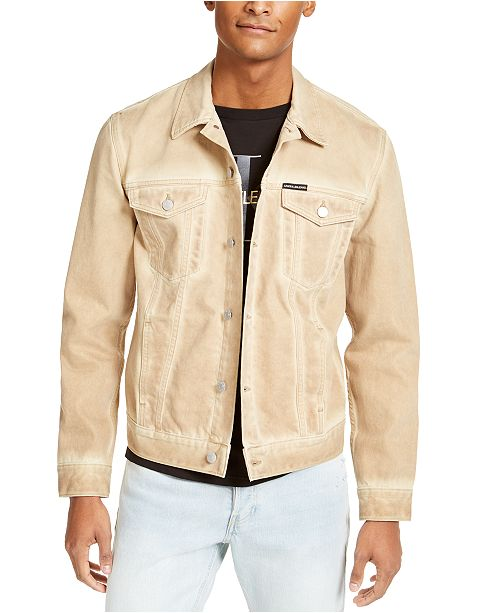 Calvin Klein Jeans Men's Bronx Light Brown Trucker Jacket