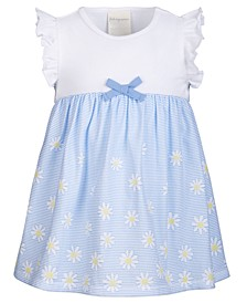 Baby Girls Striped Daisy-Print Dress, Created for Macy's