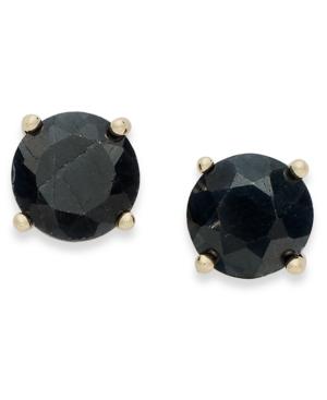 18k Gold over Sterling Sterling Earrings, September's Birthstone Midnight Sapphire Stud Earrings (2 ct. t.w.)