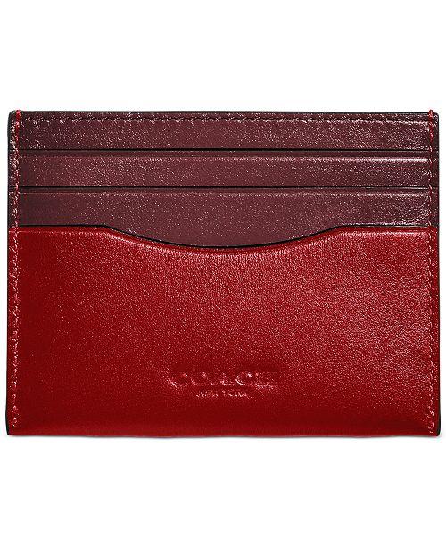 COACH Men's Colorblocked Leather Card Case