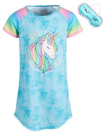 Big Girls Tie-Dye Unicorn Sleep Shirt