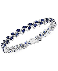 EFFY® Sapphire (9-1/2 ct. t.w.) & Diamond (3/4 ct. t.w.) Leaf Bracelet